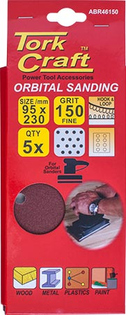SANDING SHEET ORB 95 X 230MM 150GR PLAIN