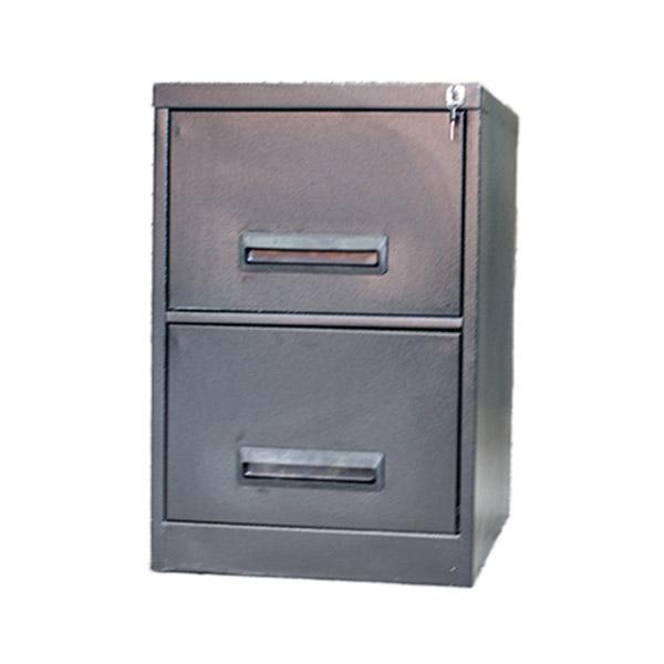2 Drawer Filing Cabinet Hammertone 710mm (h) x 470mm (w) x 630mm (d)