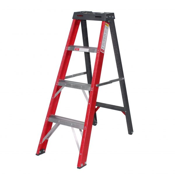 Industrial Double Sided Fully Fibreglass A-Frame Ladders
