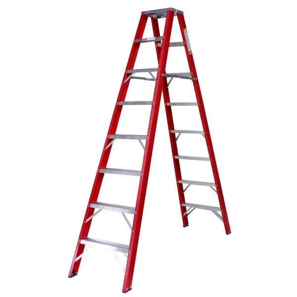 Industrial Double Sided Fully Fibreglass A-Frame Ladders 4 Steps