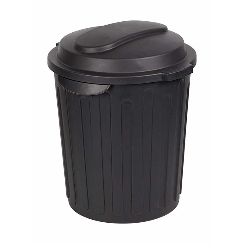 60L Dustbin - Black