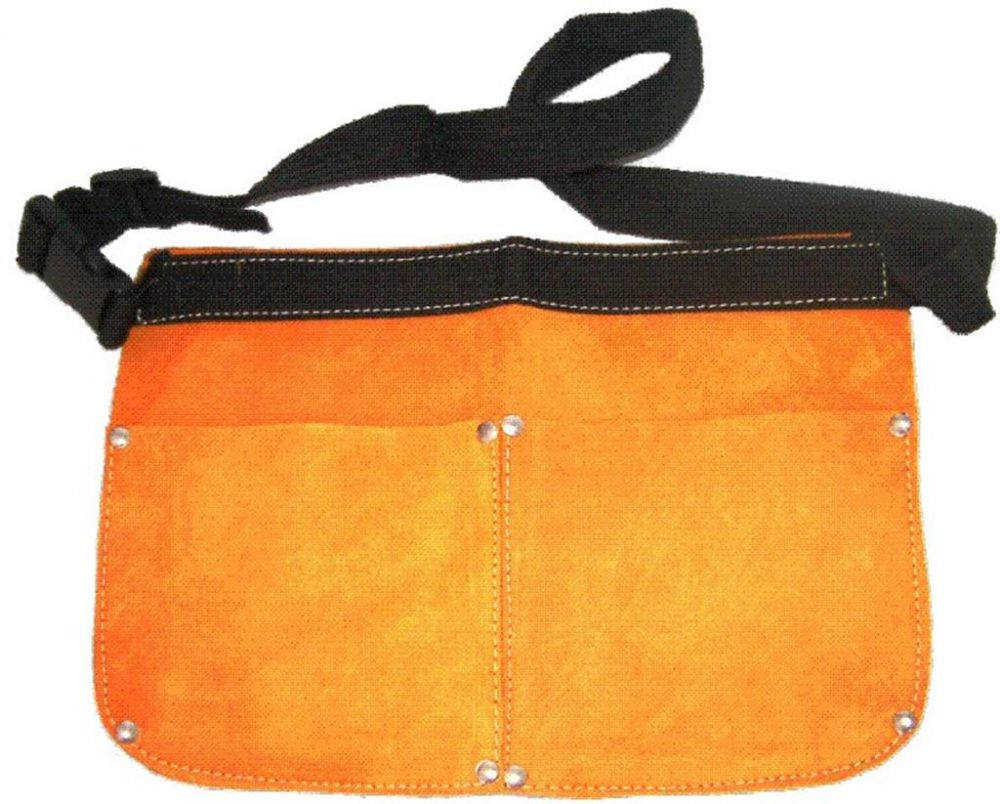 DOUBLE POCKET LEATHER NAIL BAG