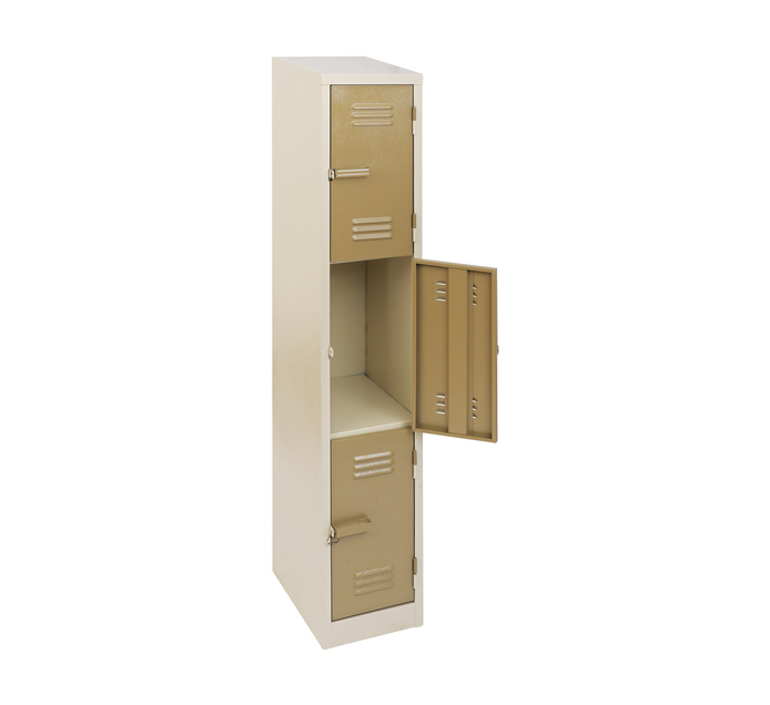 3 Compartment Ivory Karoo 1800mm (h) x 300mm (w) x 450mm (d)