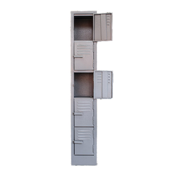 5 Compartment Hammertone 1800mm (h) x 300mm (w) x 450mm (d)