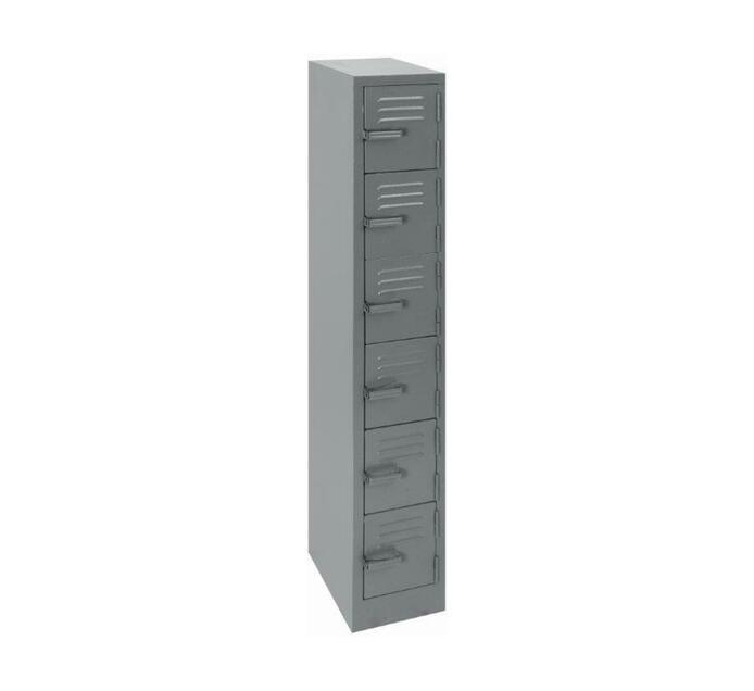 6 Compartment Hammertone 1800mm (h) x 300mm (w) x 450mm (d)