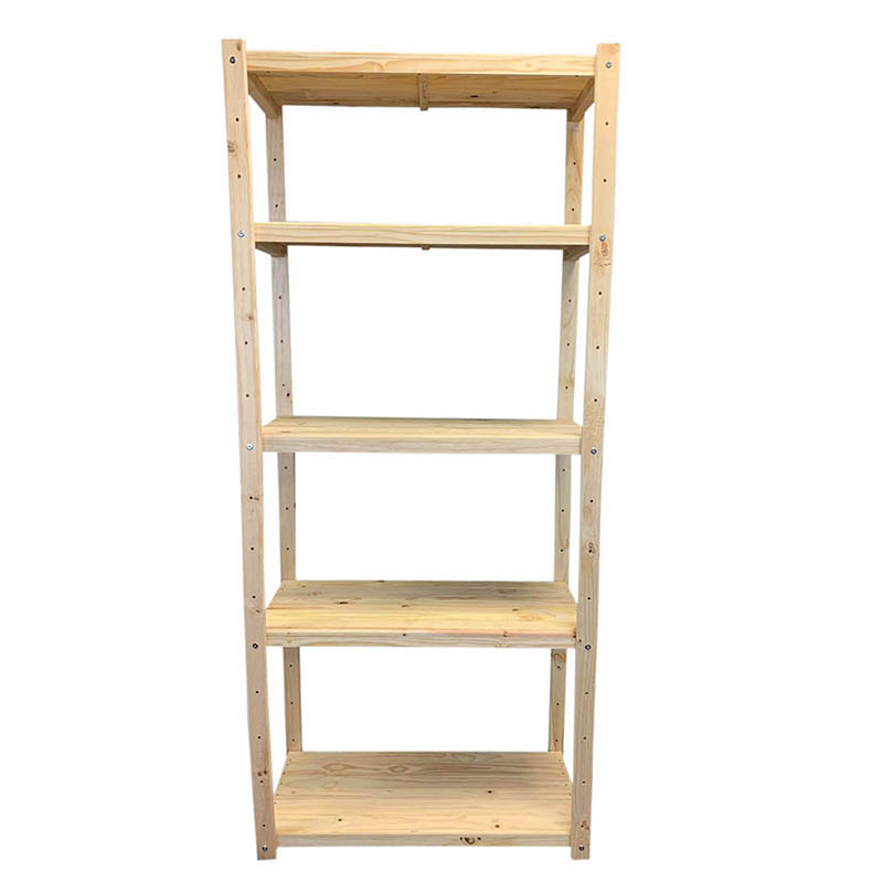 Single Bay Wooden Bolted Shelving Unit
